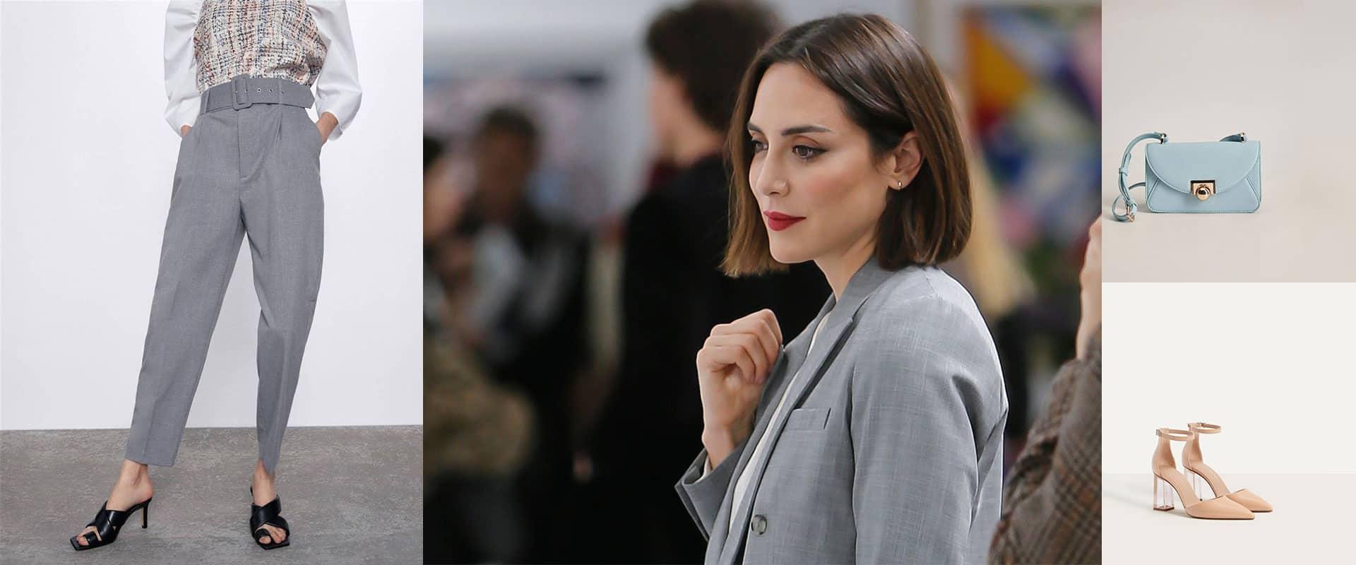 Tamara Falcó o cómo llevar un traje gris en primavera (en versión low cost)