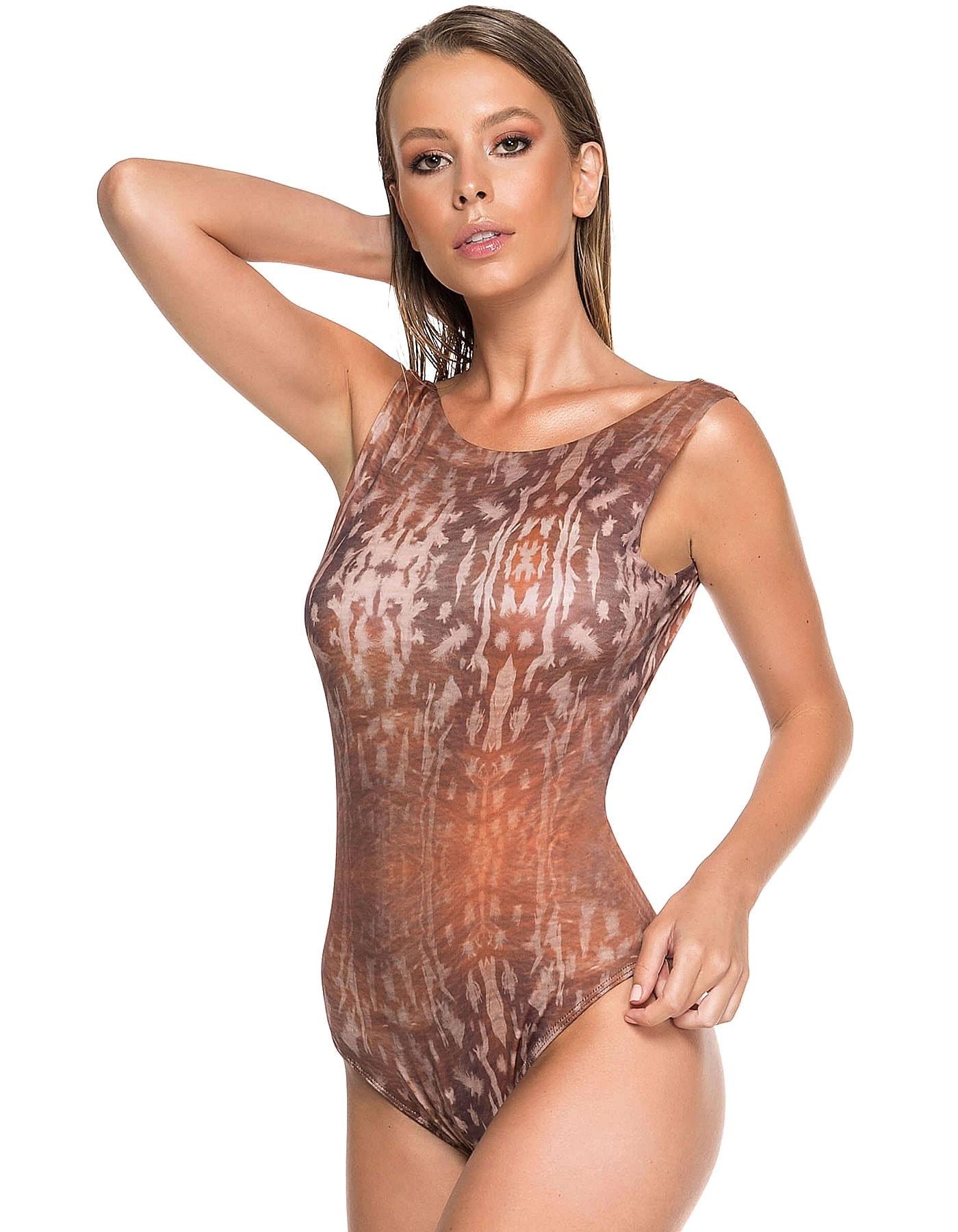 Body Bañador Estampado Camel Edición Limitada | Body Brigitty Sahara D