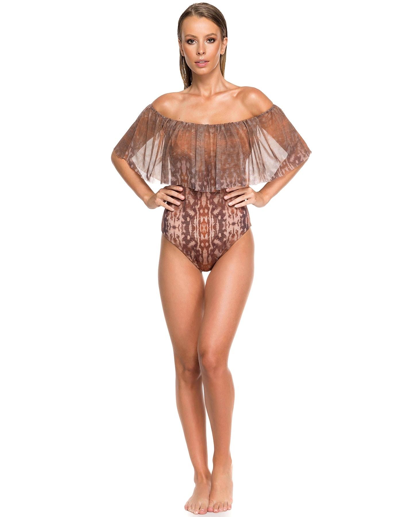 Body Bañador Estampado Camel Edición Limitada | Body Tulum Sahara E