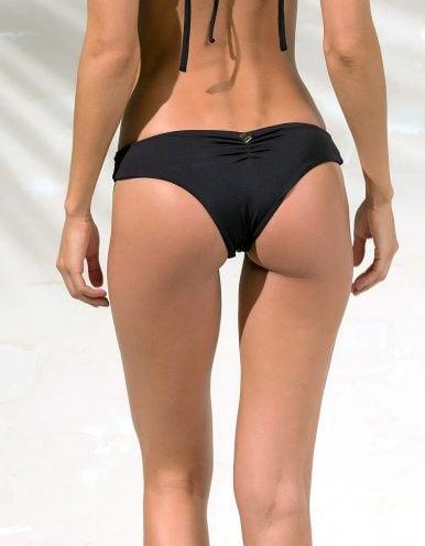Braguita Bikini negro con detalles dorados en Oro | Tube B