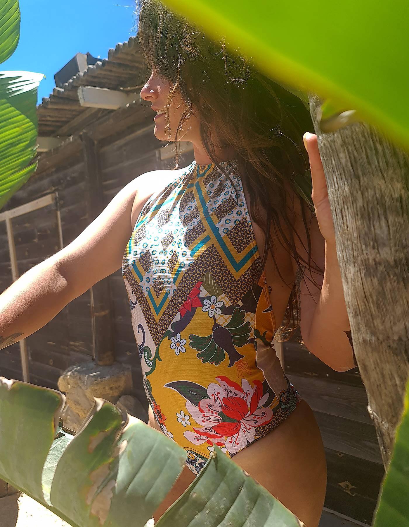 Body Bañador cuello halter y espalda libre | Lua Morena