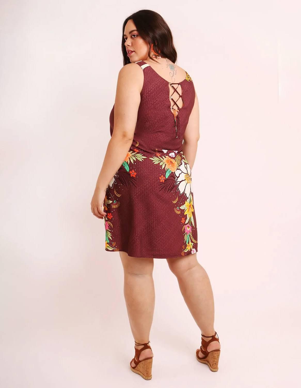 Vestido verano corto talla grande verde o marrón con tirantes y ajustable en espalda Malagueta-57507MAL-B