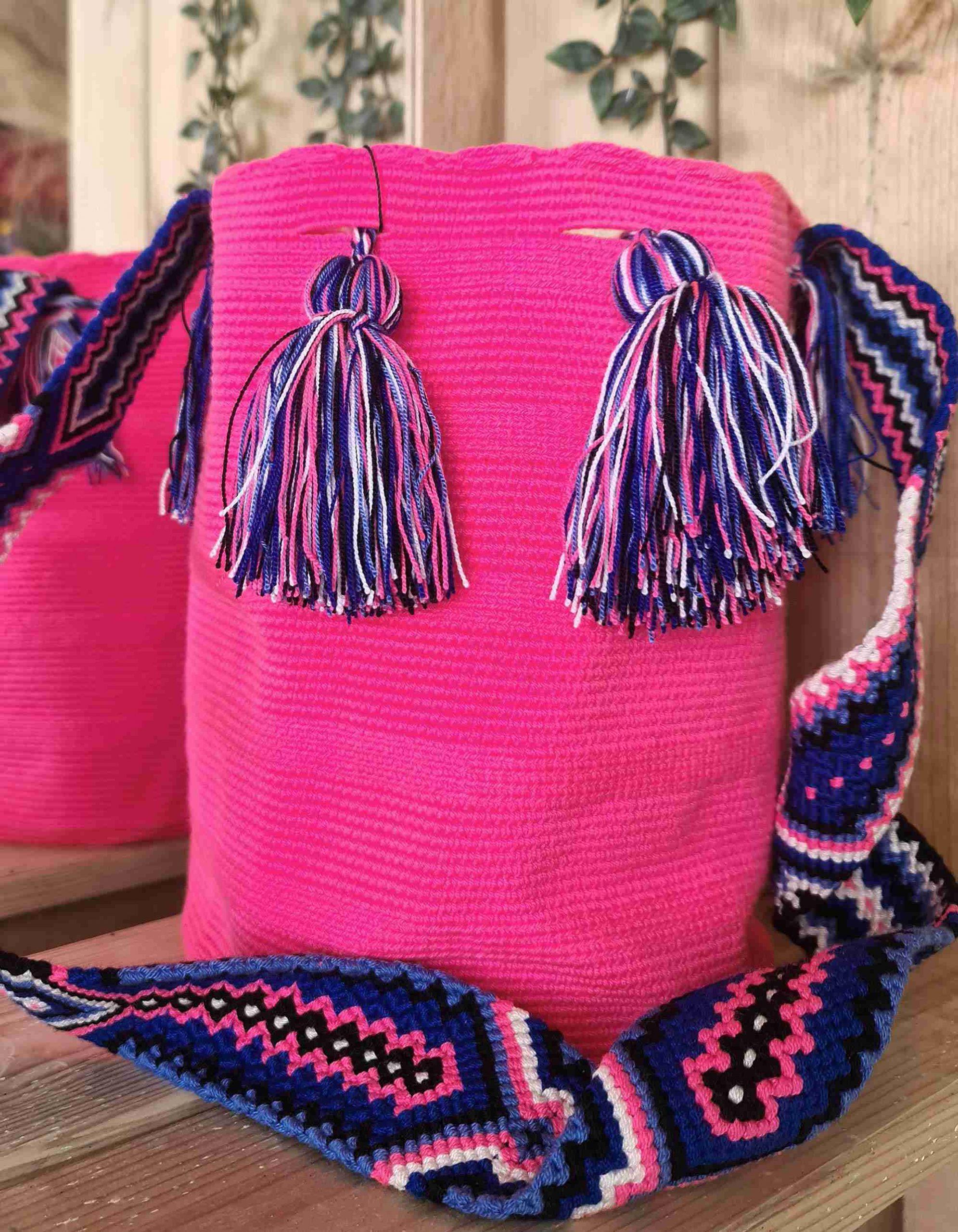 Bolso Wayuu Artesanal,Auténtico y Original (sólo 1 igual) LISO B
