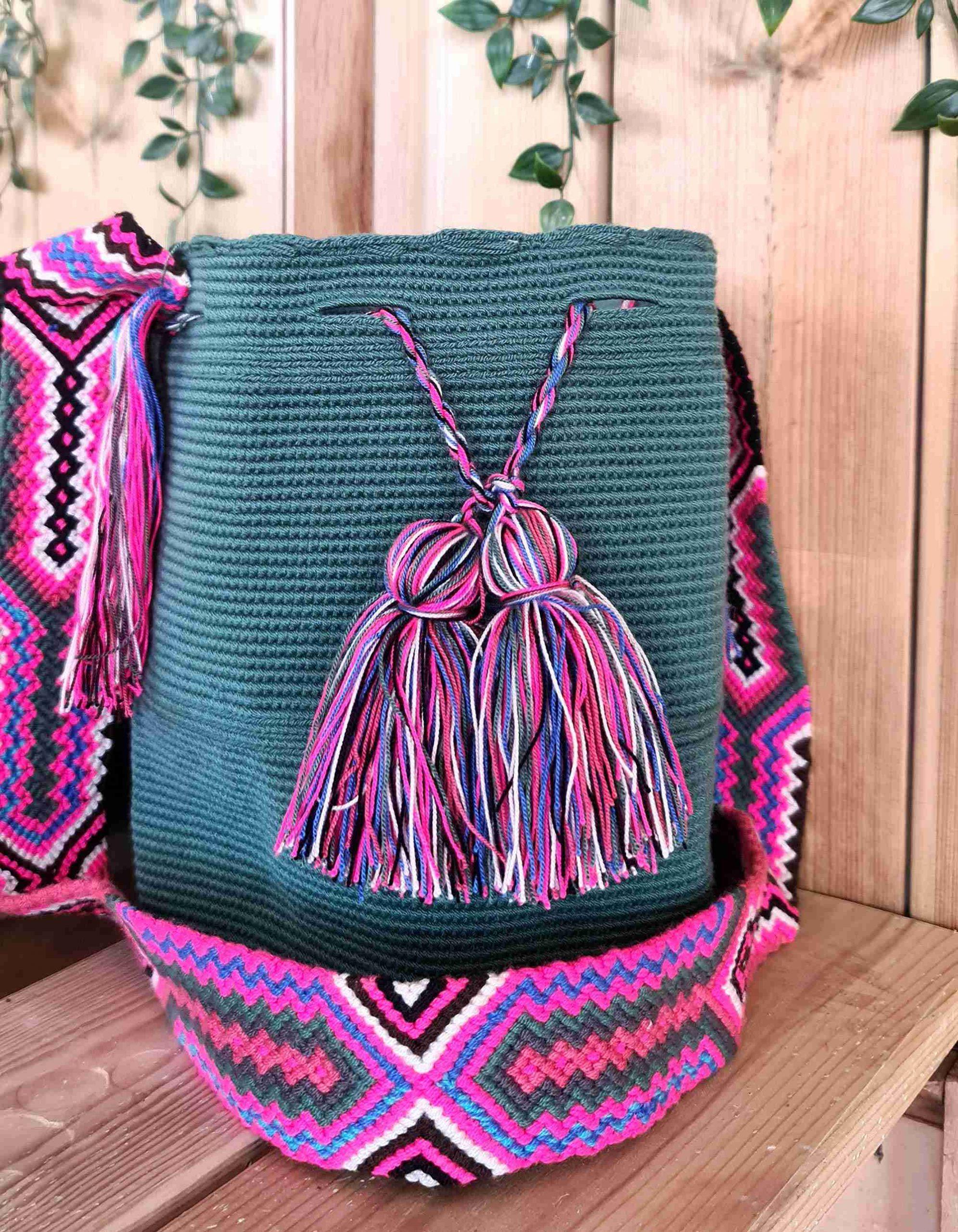 Bolso Wayuu Artesanal,Auténtico y Original (sólo 1 igual) LISO C