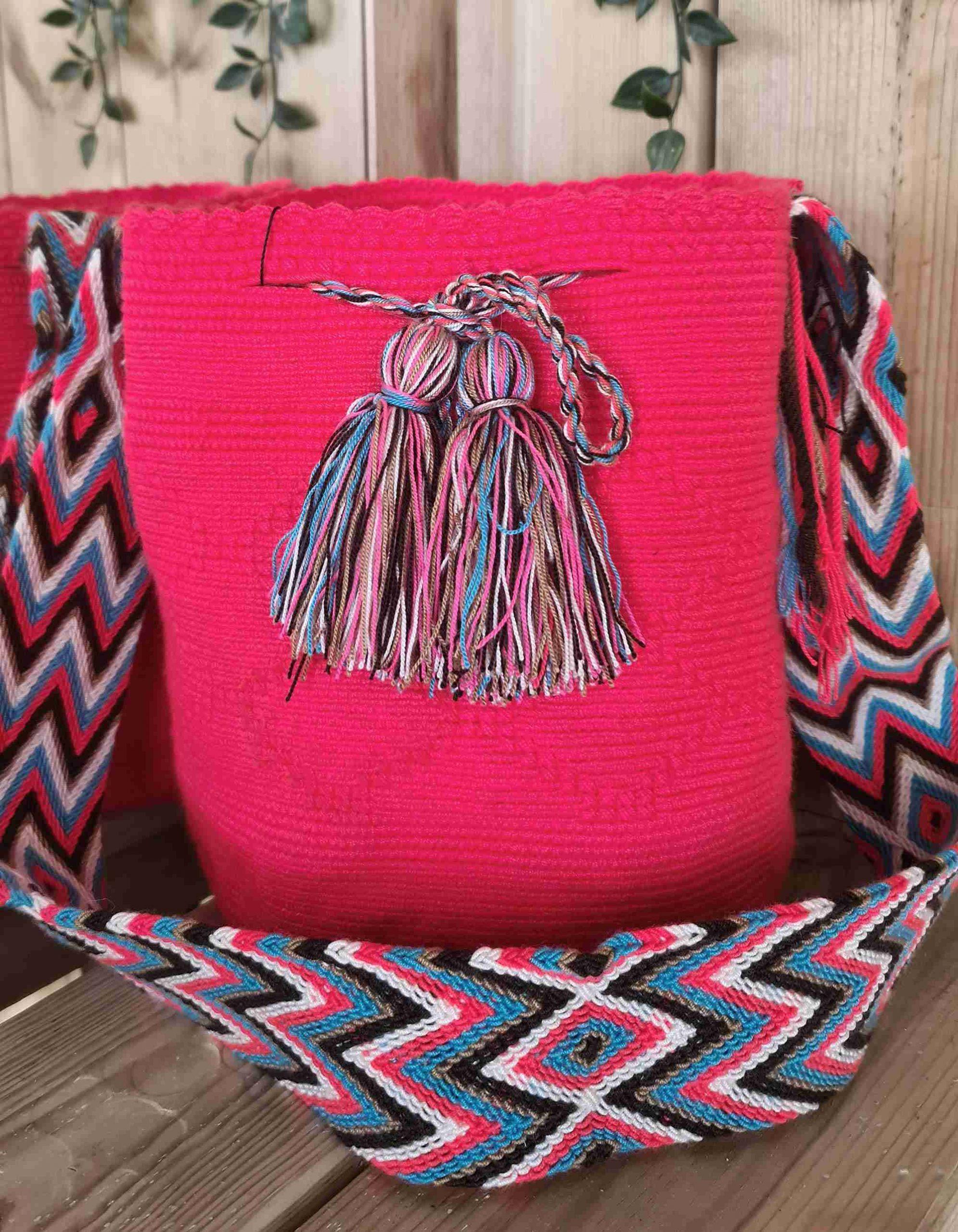 Bolso Wayuu Artesanal,Auténtico y Original (sólo 1 igual) LISO J