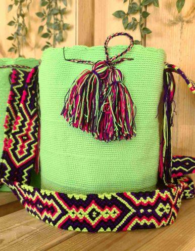 Bolso Wayuu Artesanal,Auténtico y Original (sólo 1 igual) LISO N