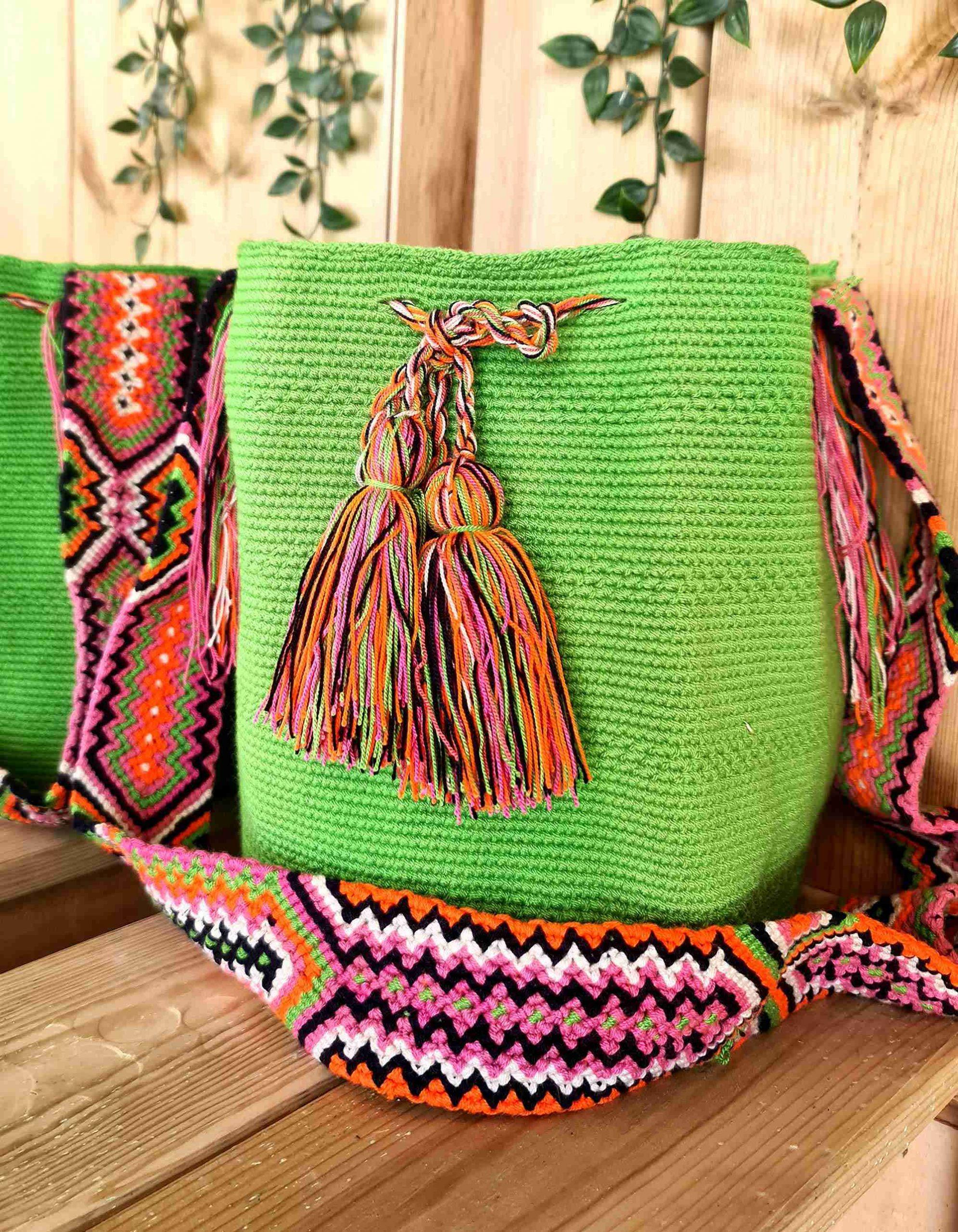 Bolso Wayuu Artesanal,Auténtico y Original (sólo 1 igual) LISO O