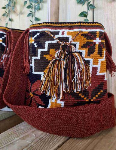 Bolso Wayuu Artesanal, Auténtico y Original (sólo 1 igual) MOTIVOS TRIBALES S
